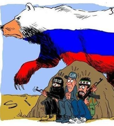 Latuff's cartoon on catalytic Russia's intevention in Syria