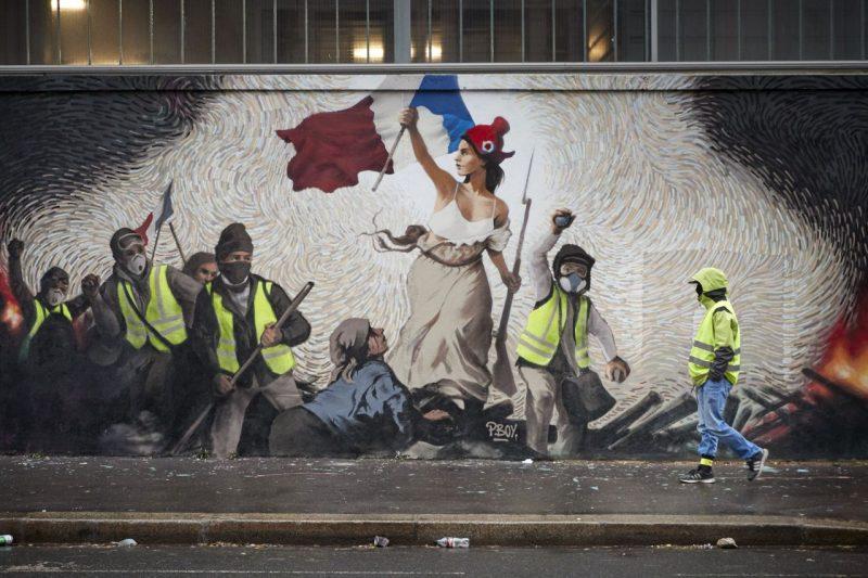 """Τα Κίτρινα Γιλέκα, η Αυτο-οργάνωση και η Συστημική Βία   """"Κίτρινα Γιλέκα 2019: Γαλλική Δημοκρατία. Νεκρή ή Ζωντανή;"""" (Diana Johnstone)"""